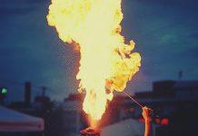 festival burning
