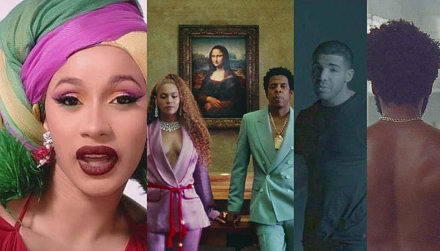 Artistas con el mayor número de nominaciones a los MTV VMAs 2018