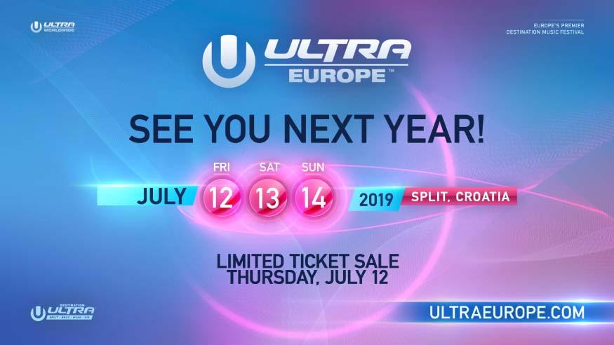 Fechas de Ultra Europe para el año próximo