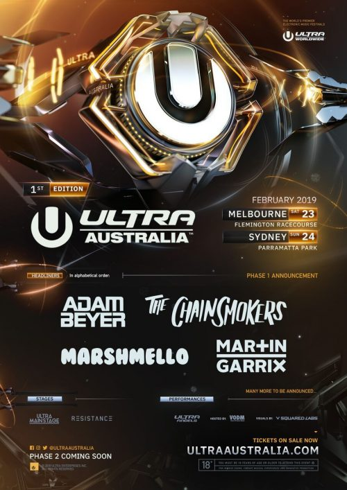 Ultra Australia 2019 Phase 1 Announcement Ver más tarde Compartir